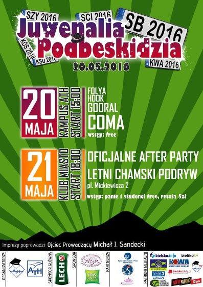 2016 - Juwenalia w Polsce - Juwenalia - program, imprezy